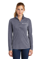Diligent Advisory Ladies Tri-Blend Wicking 1/4-Zip Pullover