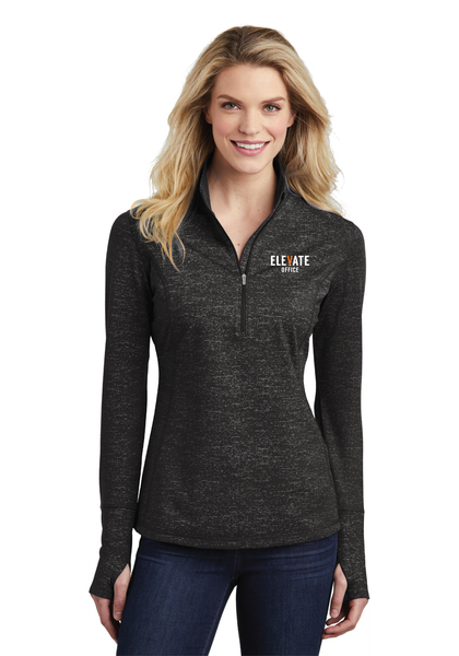 Elevate Ladies Stretch Reflective Heather 1/2-Zip Pullover