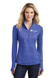 Cloudapt Ladies Stretch Reflective Heather 1/2-Zip Pullover