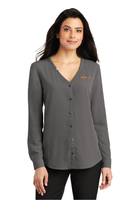 Envoy Ladies Long Sleeve Button-Front Blouse