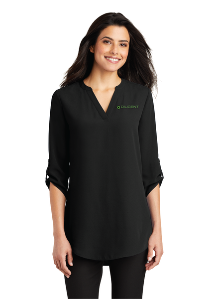 Diligent Advisory Ladies 3/4-Sleeve Tunic Blouse