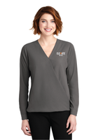 Elevate Ladies Wrap Blouse
