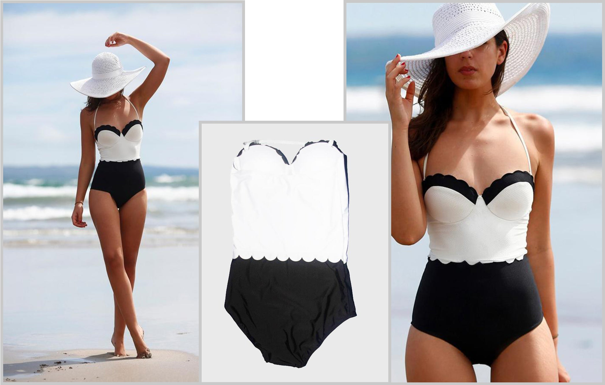 https://mycharmo.com/collections/one-piece/products/sexy-lace-black-and-white-patchwork-bathing-suit