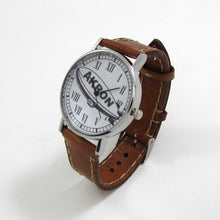 Load image into Gallery viewer, Akron Brown Leather Wrist Watch - TheExCB