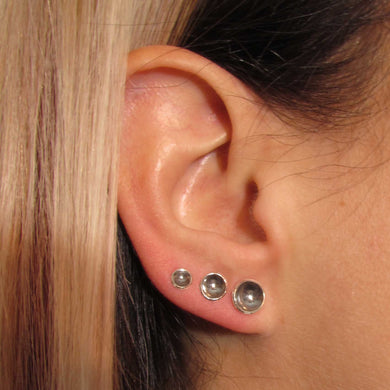 Full Set of Silver Cup Earrings - TheExCB
