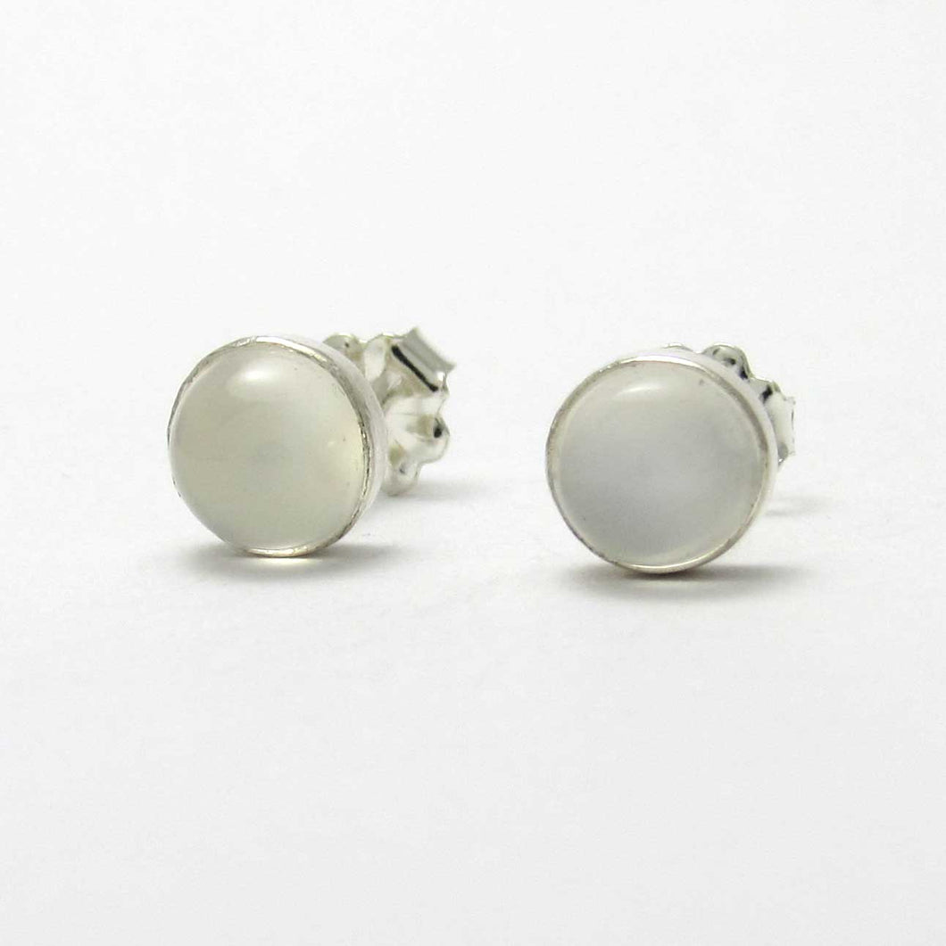6mm Moonstone Stud Earrings - TheExCB