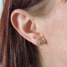 Load image into Gallery viewer, 6mm Peridot Stud Earrings - TheExCB