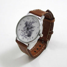 Load image into Gallery viewer, Alice in Wonderland Brown Leather Wrist Watch - TheExCB