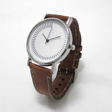 Load image into Gallery viewer, Minimalist Radial Brown Leather Wrist Watch - TheExCB
