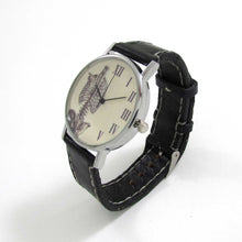 Load image into Gallery viewer, Anatomical Rib Black Leather Wrist Watch