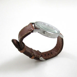 Solar Flare Brown Leather Wrist Watch - TheExCB