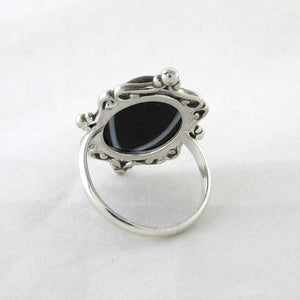 Black Agate Cameo Ring - TheExCB