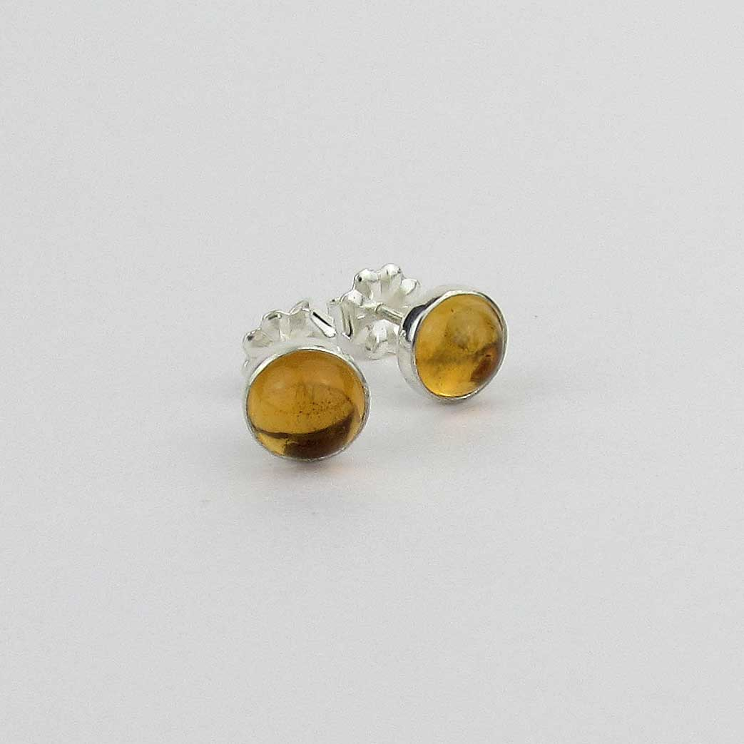 6mm Citrine Stud Earrings - TheExCB