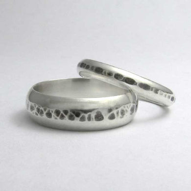 Half Round Hammered Wedding Band - TheExCB