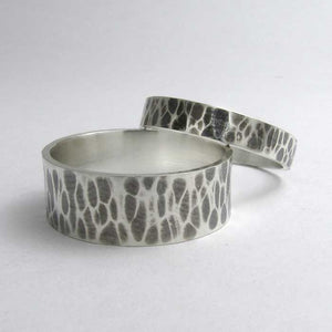 Hammered Flat Wedding Band - TheExCB