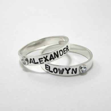 Personalized Stacking Birthstone Rings - TheExCB