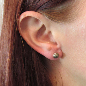 6mm Pyrite Stud Earrings - TheExCB