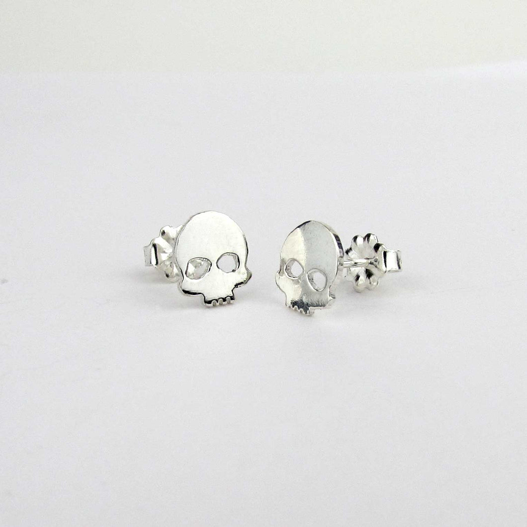 Silver Skull Earrings - TheExCB