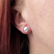 Load image into Gallery viewer, Silver Skull Earrings - TheExCB