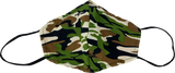 Washable Fabric Face Mask [OS] Camo Green