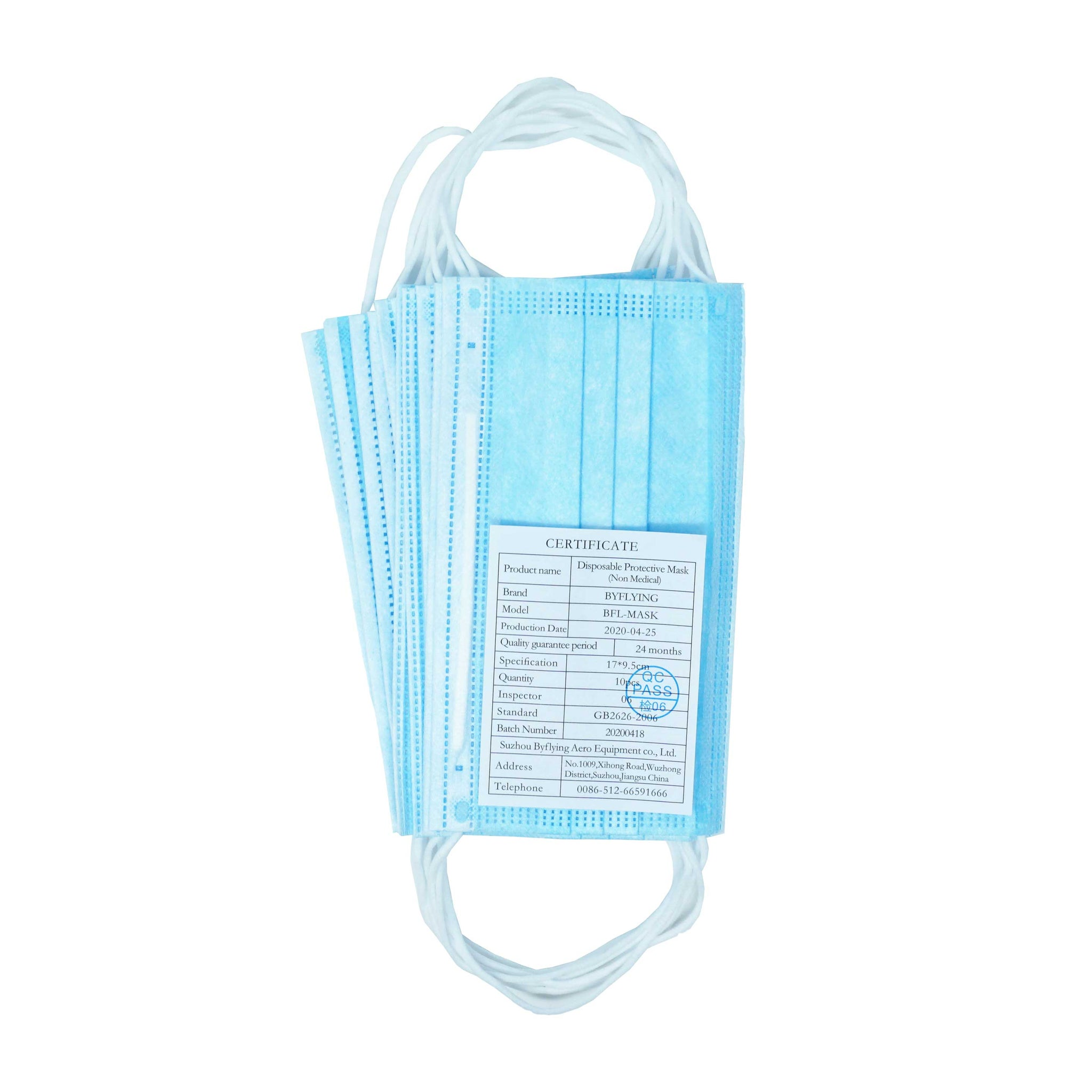 10-Pack Disposable Face Masks