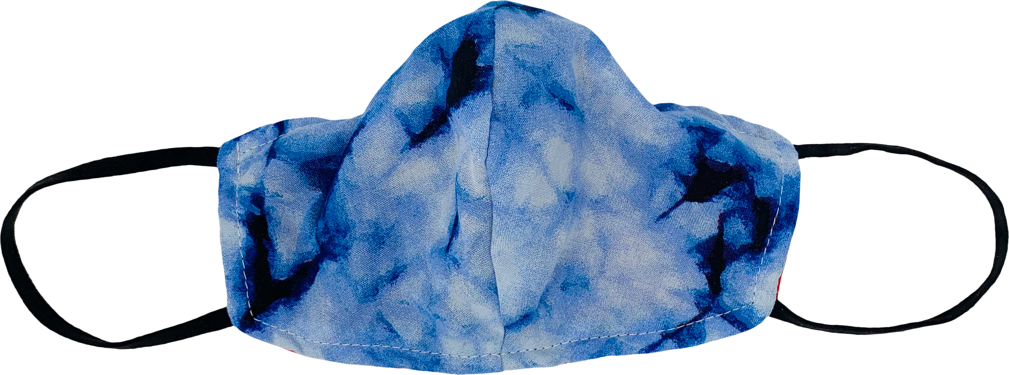 Washable, Ocean Blue Tie-Dye Fabric Face Mask [OS]