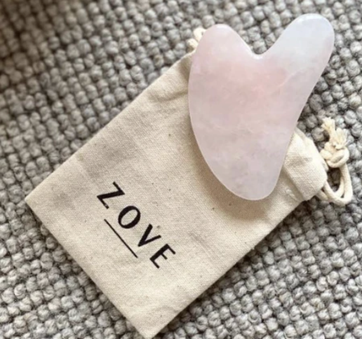 Zove Beauty Rose Quartz Gua Sha Tool