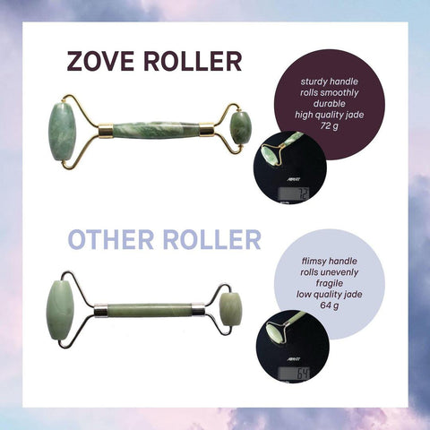 Zove Beauty Real Jade Roller Difference