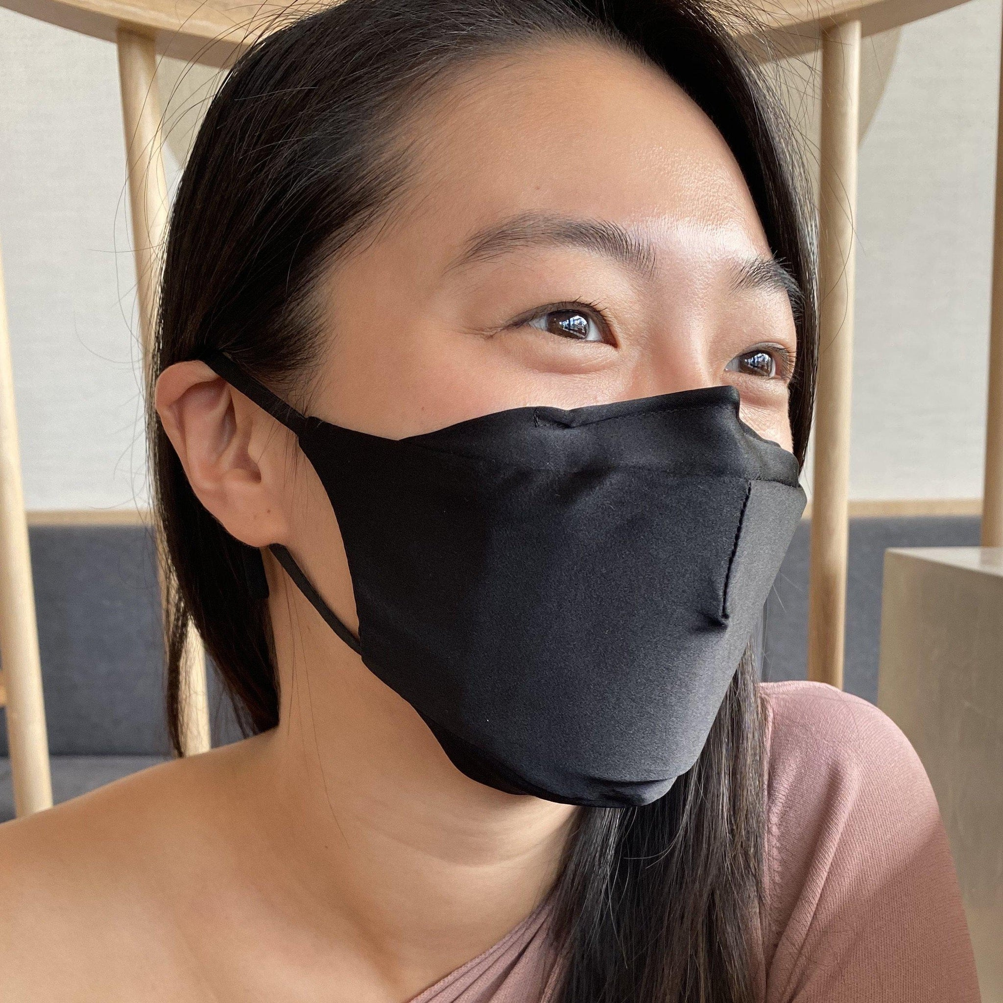 Black Silk Face Mask