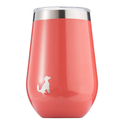 12oz Insulated Stainless Steel Wine Tumbler, With Lid