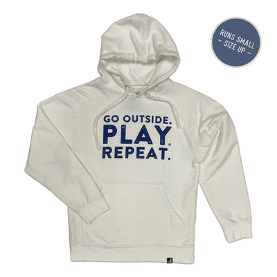 'Go Outside. Play. Repeat.' Hoodie