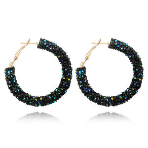 Top Fashion Lab | Shine Austrian Crystal Hoop Earrings