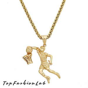BASKETBALL SHOTS NECKLACE | Top Fashion Lab