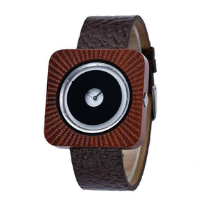 Coffee Sandal Wood Design Watch