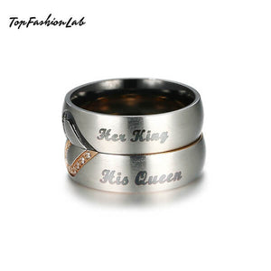 Lovely King & Queen Rings