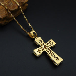 CRUCIFIXION FAITH CROSS NECKLACE