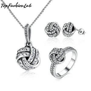 Top Fahion Lab KNOT BALL JEWELRY SET