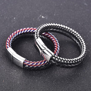 DOUBLE COLOR LEATHER BRACELET