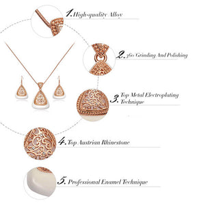 Top Fahion Lab ROSE GOLD DANGLE JEWELRY