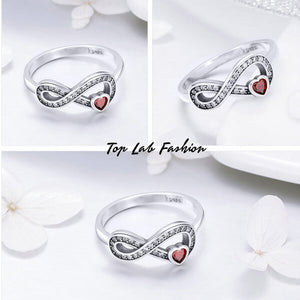 LOVE FOREVER HEART STERLING SILVER RING