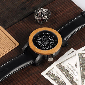 Spinner Mapple Pine Wood Watch