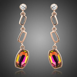 Three Drop Stellux Austrian Crystal Earrings
