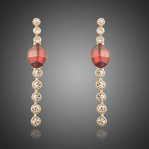 Single Row Crystal Earrings