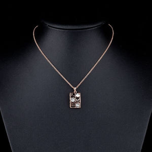 ROSE GOLD AUSTRIAN CRYSTAL LOVE NECKLACE