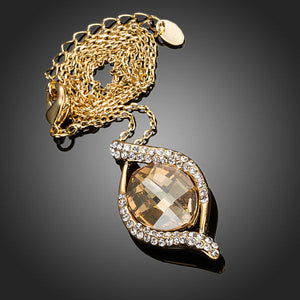 Snail Stellux Austrian Crystal Necklace