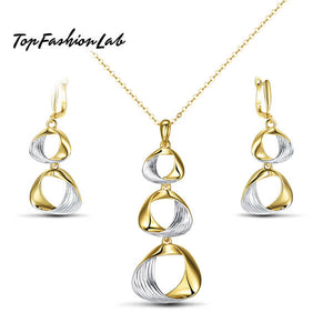 TWISTED CIRCLES PARTY SET JEWELRY Top Fashion Lab