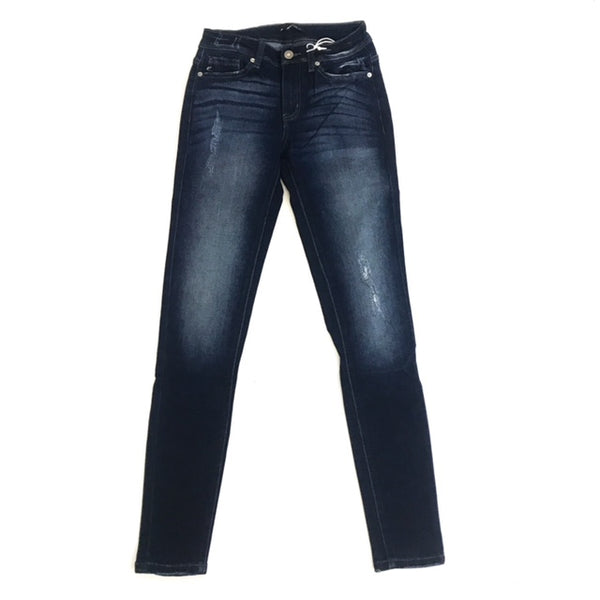 KanCan Dark Washed Distressed Jean