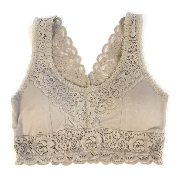 Taupe Fall Lace Bralette