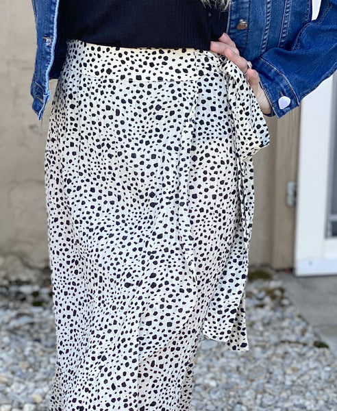 Jessie Cream Dot Skirt