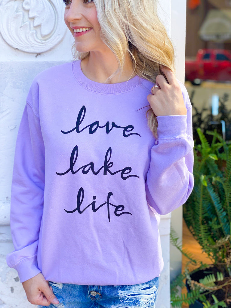 Esme Lavender Lake Love Sweatshirt